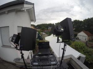 als mobiler Partydj über den Dächern von Erfurt