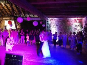 Hochzeitstanz des Brautpaares in Schirnewitz